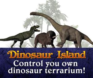 Dinosaur Island Logo CONTROL 300X250