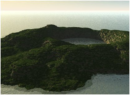 Volcanic Dinosaur Island created by Ed Isenberg.
